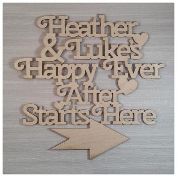 Happy Ever After Starts Here - PERSONALISED