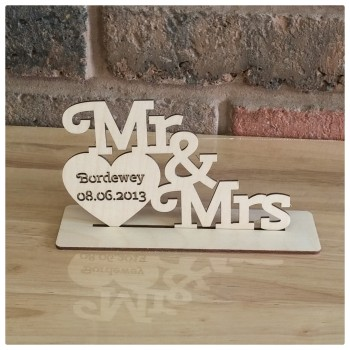 Mr & Mrs Heart Display