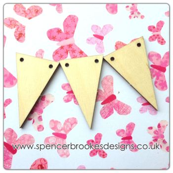 Triangle Flag Shape Bunting (Point Downwards) - 0242