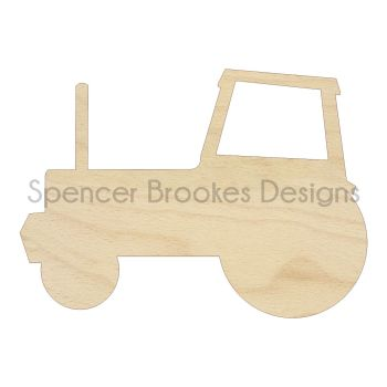 Laser Cut Wooden Tractor - 0059