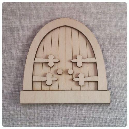 Laser cut wooden fairy door 3d fairy door spencer for Fairy door shapes