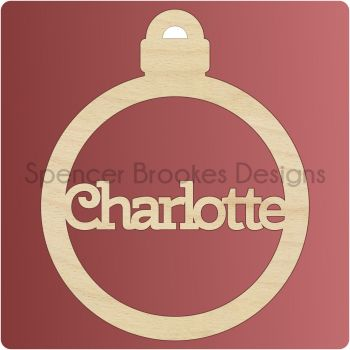Personalised Christmas Bauble - 0088