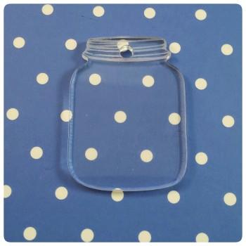 Acrylic Blank Mason Jars - 0187