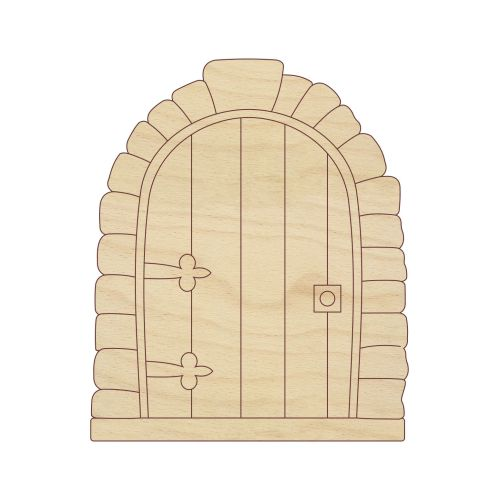 Laser cut wooden shapes and craft shapes laser cut fairy for Make fairy door craft