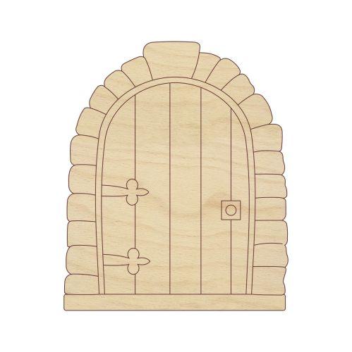Laser cut stone fairy door 0081 for Fairy door pattern