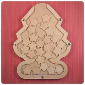 Christmas Tree Drop Top Advent Calendar - Star Tokens (base included) - 0196