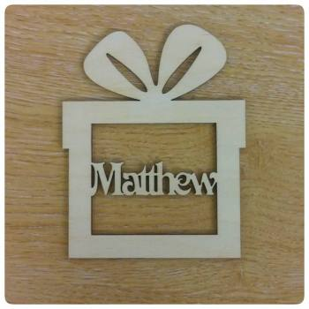 Personalised Present Bauble Decoration - 0113