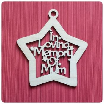 In Loving Memory Cutout Bauble - 0119