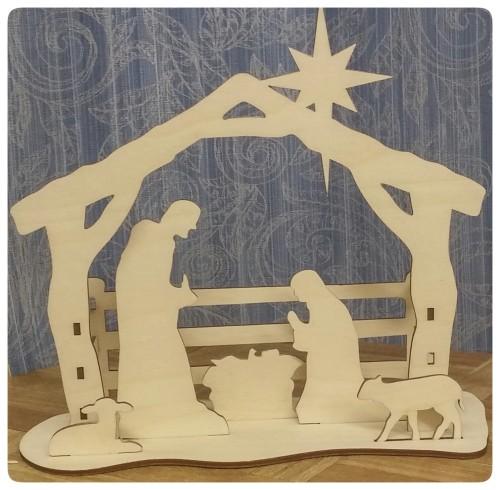 laser cut wooden nativity set - Wooden Nativity Set