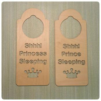 Shh Sleeping Prince/Princess Door Hanger - 0137