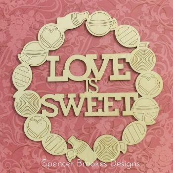 Love Is Sweet Wreath - Solid Version - 0217
