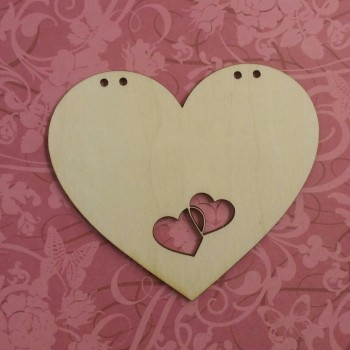 Heart Plaque With Cutout Heart Details - 0218