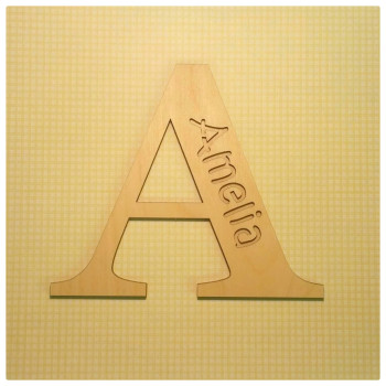 Two Layer Letter Name Cutout