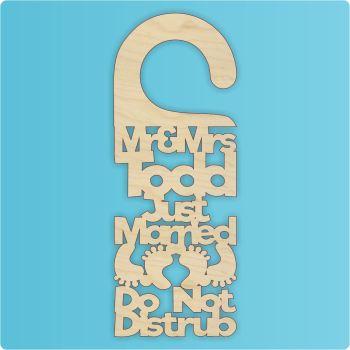 Just Married Door Hanger - PERSONALISED