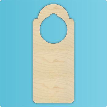 2x Laser Cut Door Hanger - Hole Top