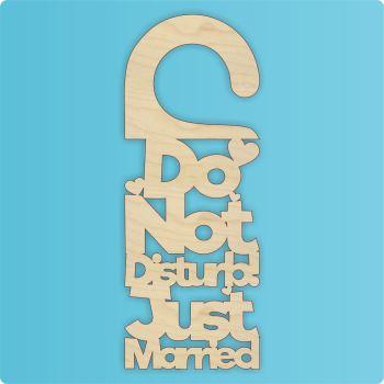 Do Not Disturb Just Married Door Hanger