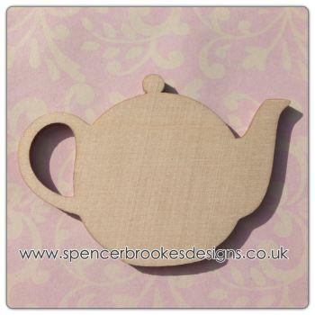 Laser Cut Wooden Teapot Shape