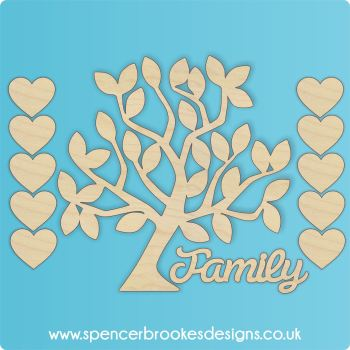 Laser Cut Family Tree Set no1 - 0318