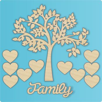 Laser Cut Family Tree Set no2 - 0319