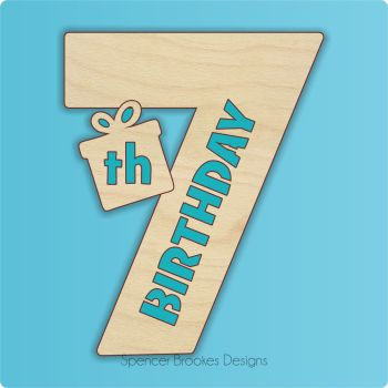 15cm Birthday Number Cutout - 7th Brithday