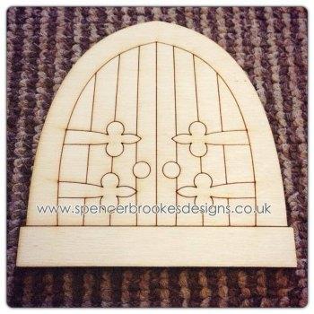 10 PACK - Laser Cut Fairy Door - 0008