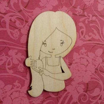 Trudy the Laser Cut Girl - Brushing Hair - 0329