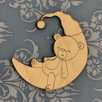 Teddy Bear Sleeping on the Moon - 0296