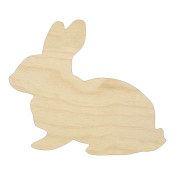 Realistic Rabbit Wooden Embelishment - 0290