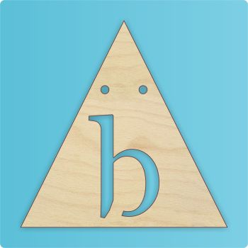 Triangle Bunting (Point Upwards) - Letter Cutout - 0272