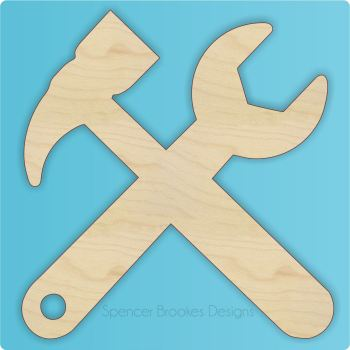 Cross Tools Cutout for Father's Day - Blank - 0268