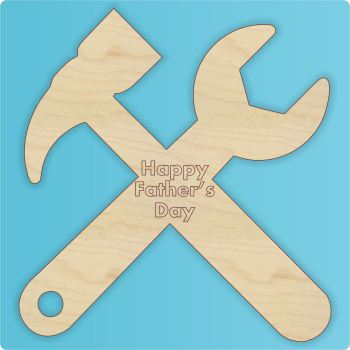 Cross Tools Cutout for Father's Day - Engraved - 0267