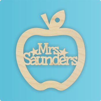 Personalised Teacher Apple Cutout - 0264