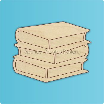 Pile of Books Wooden Cutout - 0259