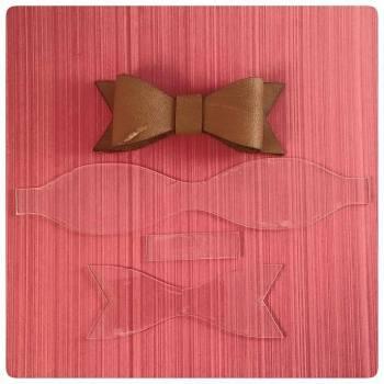 10cm Acrylic Laser Cut Bow Template - 0286