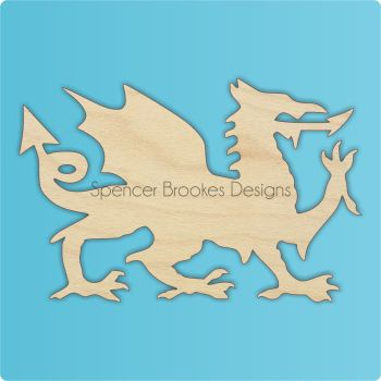 Welsh Dragon Cutout - 0438