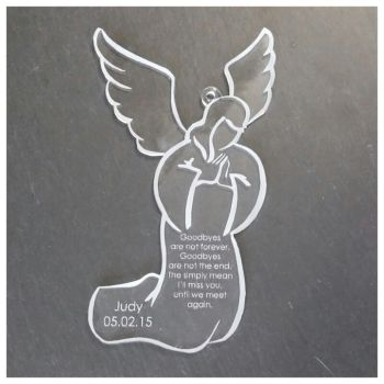 Acrylic Memorial Angel - 0278