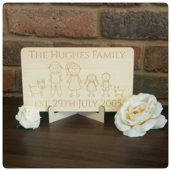 Laser Engraved Family Plaque - 0320