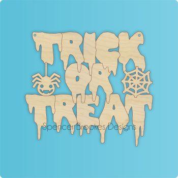 Trick or Treat Halloween Cutout - 0481