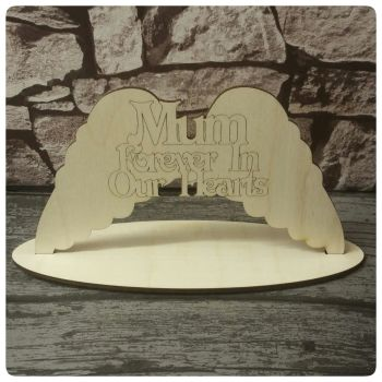 Memorial Wings with Name & Base - 0322
