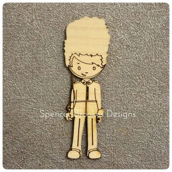 A Very English Soldier Wooden Cutout - 0306