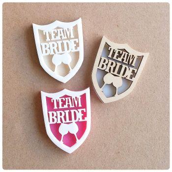 Team Bride or Team Groom Badges Kit - 0375