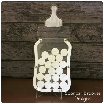 Acrylic Baby Shower Guest Book + Free Stand - 0306