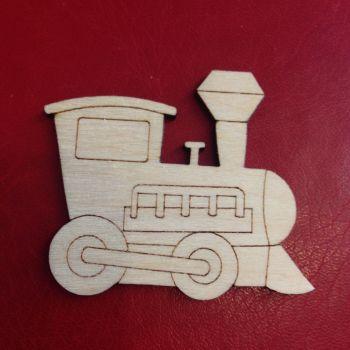 Detailed Wooden Train Shape