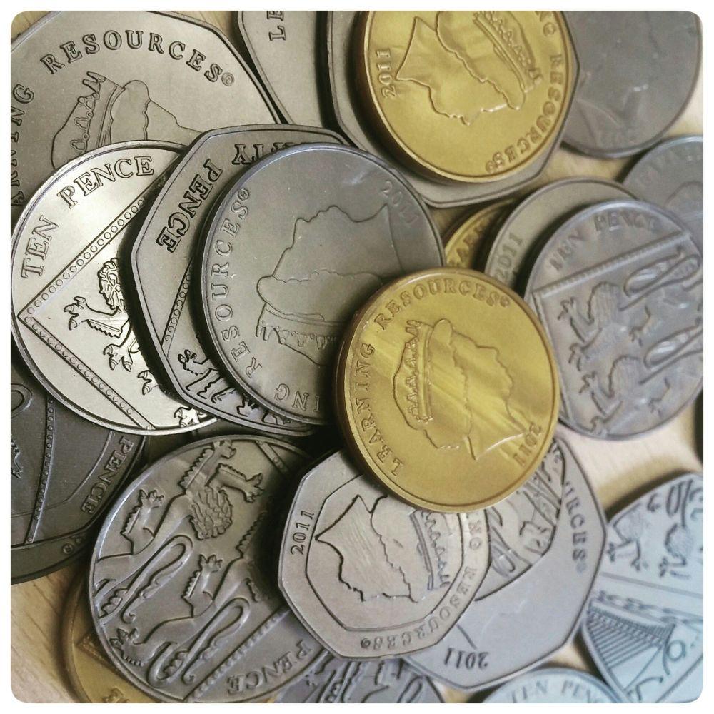 Plastic Coins Plastic Money Reward Jar Tokens