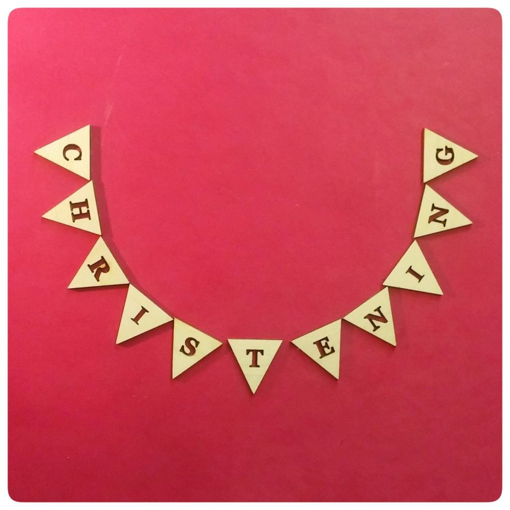 Laser Cut Wooden Bunting Wooden Bunting Shapes Spencer