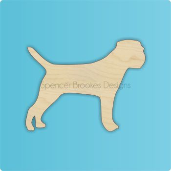 Border Terrier Wooden Cutout