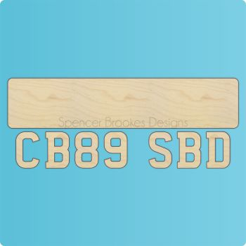 3D Layered Number Plate Plaque - 0305