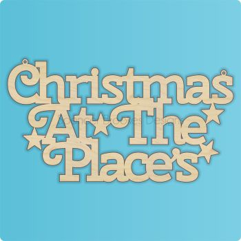 Christmas At The SURNAME - Curled Font - 0070