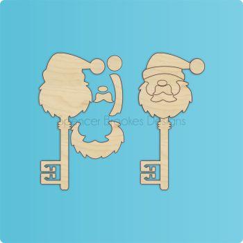 Layered 3D Santa Key - 0321
