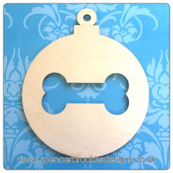 Bauble with Bone Cutout - 0311